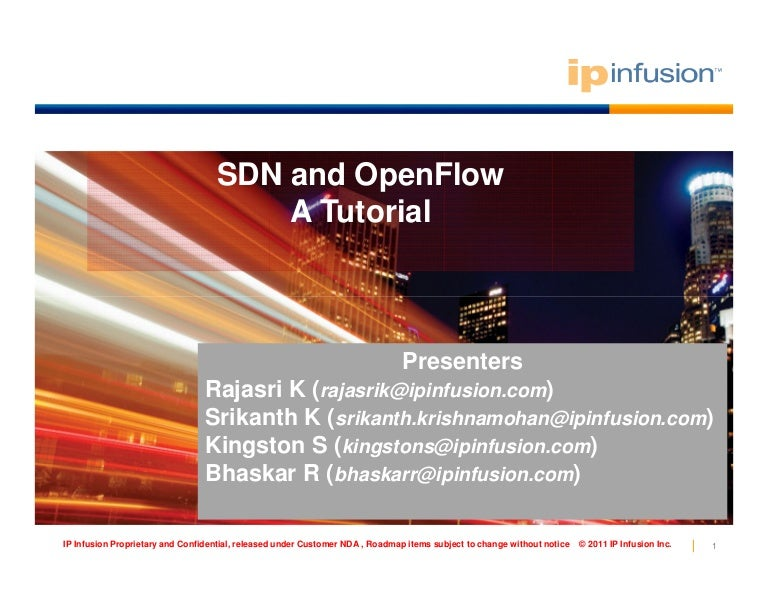 Tutorial on sdn and openflow.