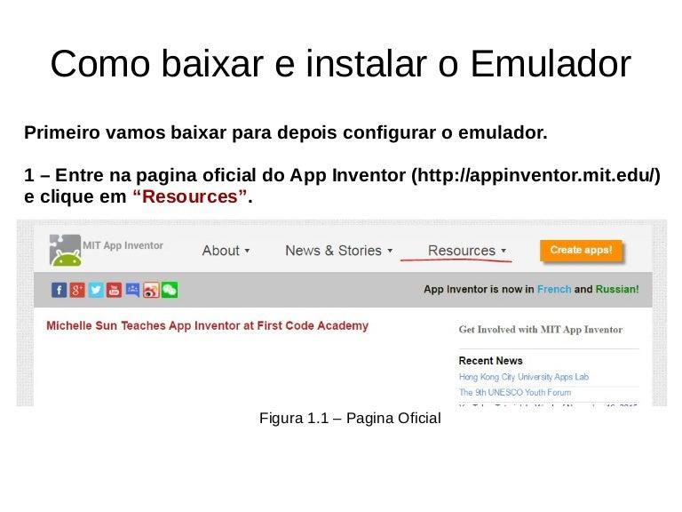 Tutorial de como Instalar o App Inventor