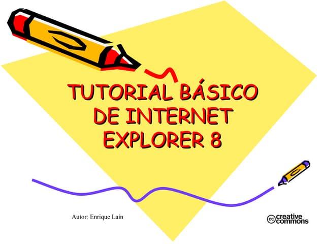 Tutorial básico de Internet Explorer 8