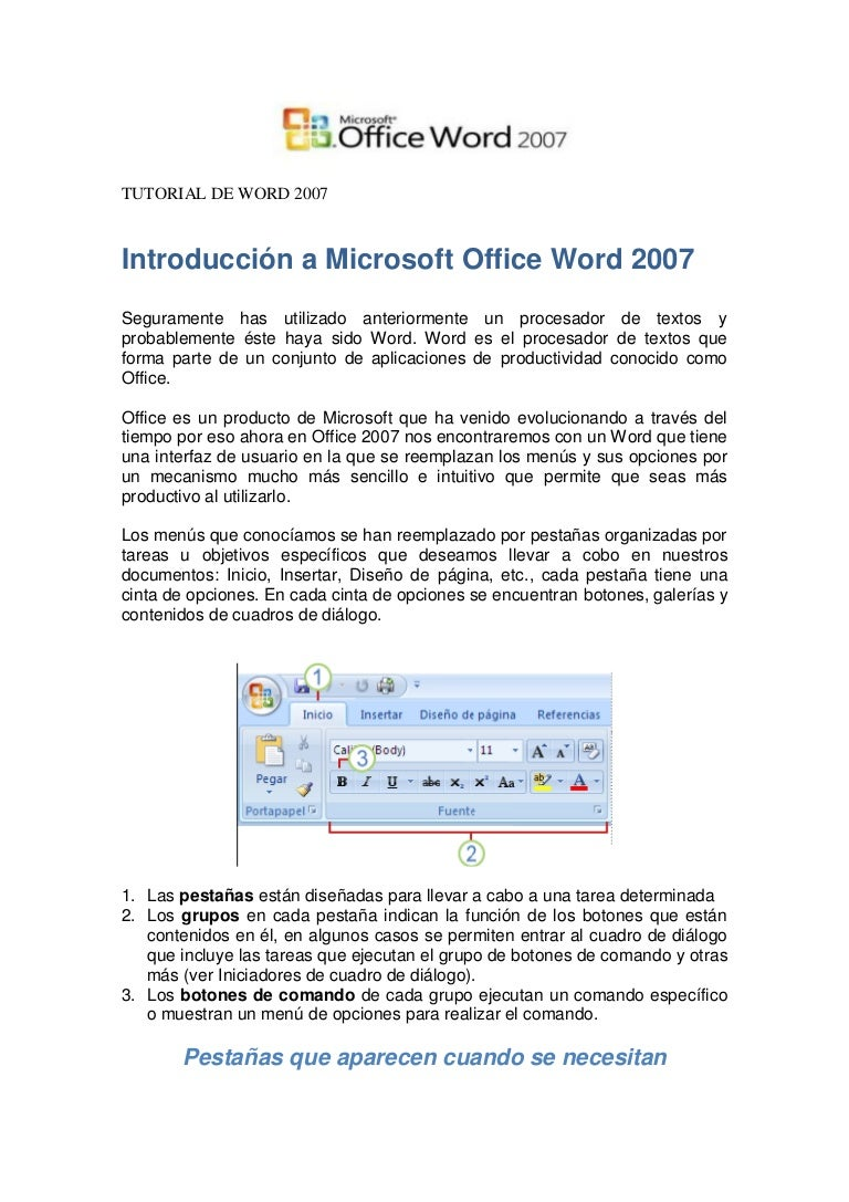 TUTORIAL DE WORD 2007 - photo#11