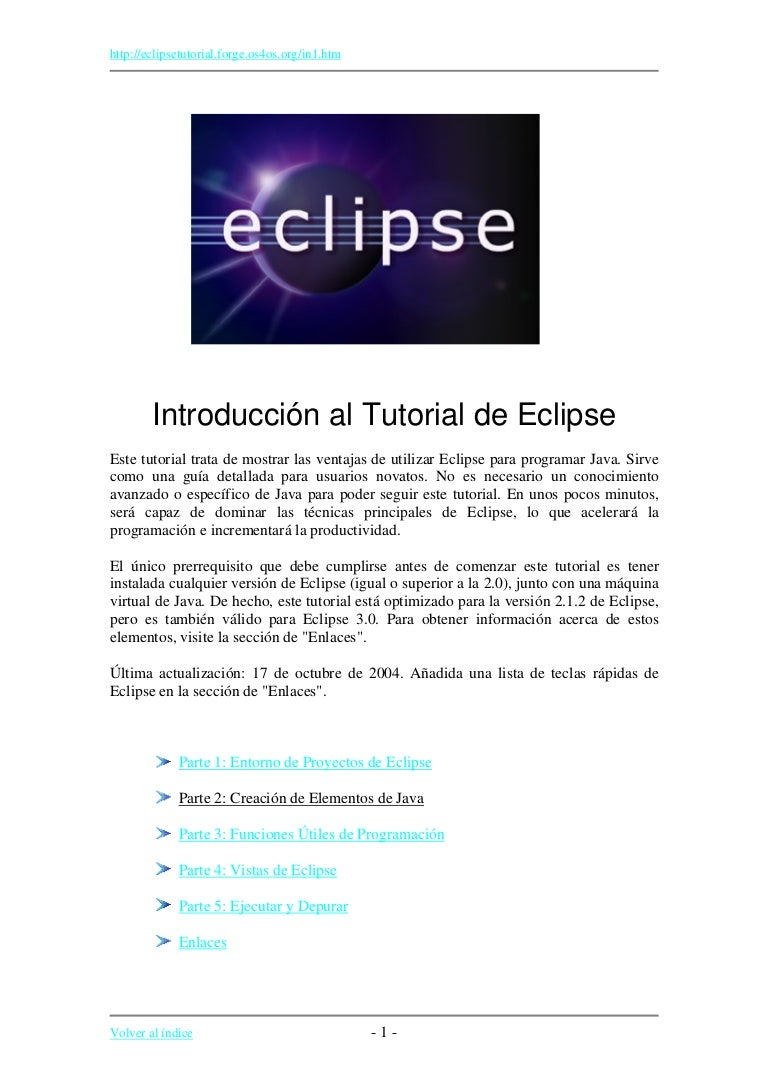 Tutorial eclipse