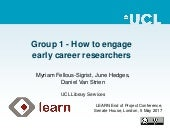 LEARN Final Conference: Tutorial Group | How To Engage Early Career Researchers
