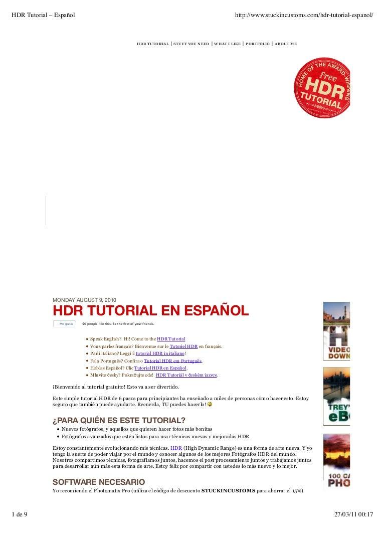 Tutorial hdr