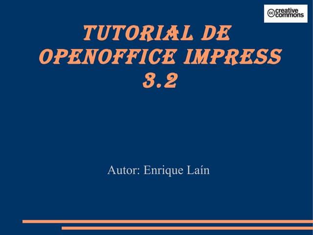 Tutorial de OpenOffice Impress 3.2