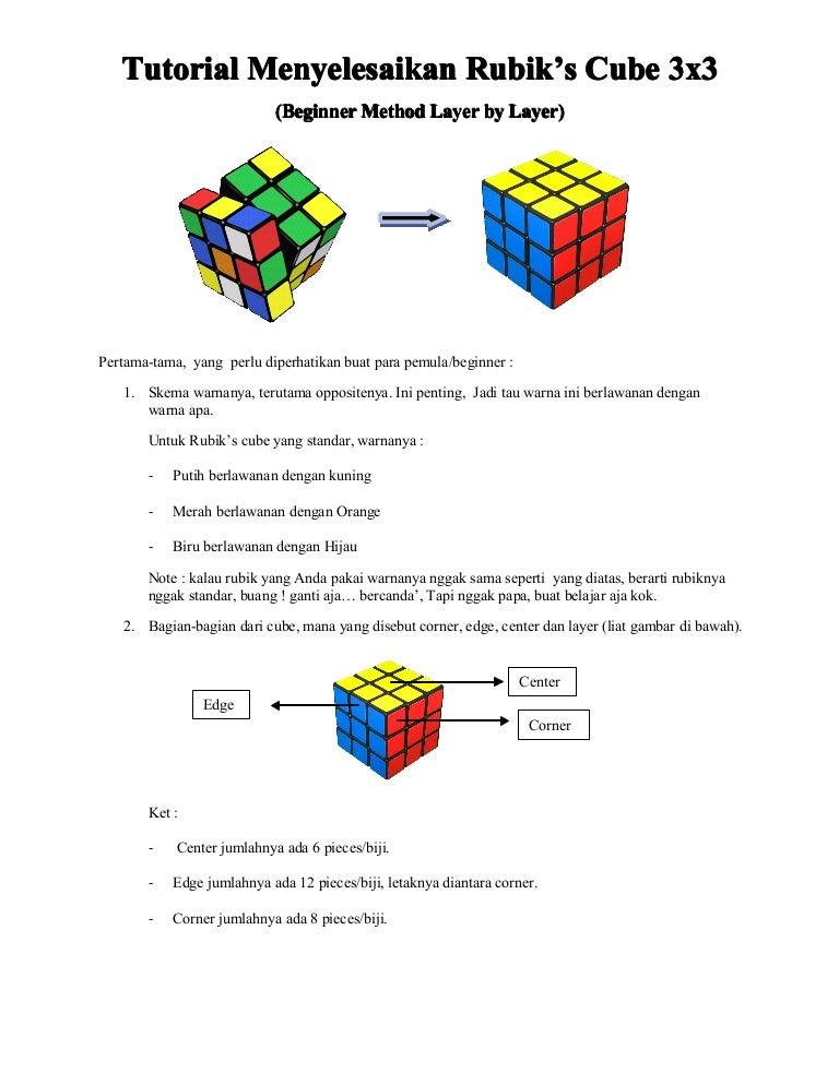 Tutorial Rubik S Cube 3x3