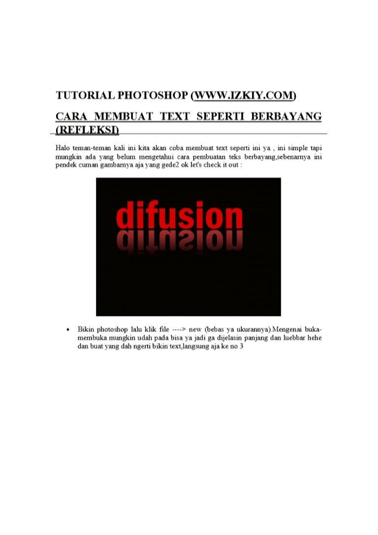 Tutorial photoshop text berbayang baditri Choice Image