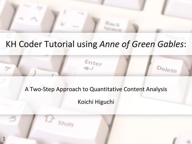 Quick Start Tutorial of KH Coder 3