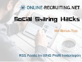 Inbound Marketing: Social Sharing Hack Nr. 5 - RSS Feeds in XING