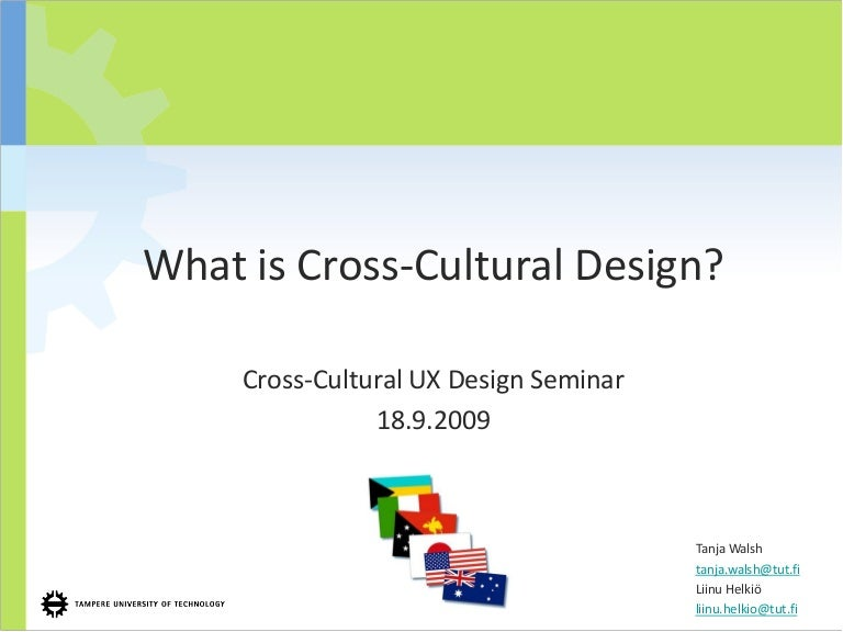 What Is Cross Cultural Design