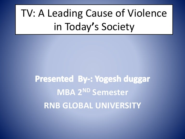 violence in movies and its effect on society