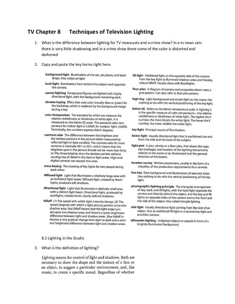 sc 1 st  SlideShare & Tv Chapter 8 Techniques Of Television Lighting azcodes.com