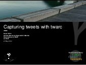 Capturing tweets with twarc