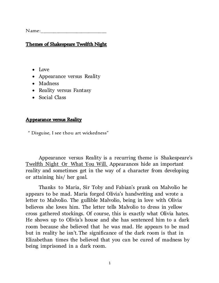 shakespeare twelfth night essay on love Twelfth night is a romantic comedy, and romantic love is the play's main focus despite the fact that the play offers a happy ending, in which the various lovers find one another and achieve wedded bliss, shakespeare shows that love can cause pain.