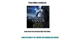 Audio Books Free Download Mp3 Twice Bitten