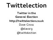 TwittElection