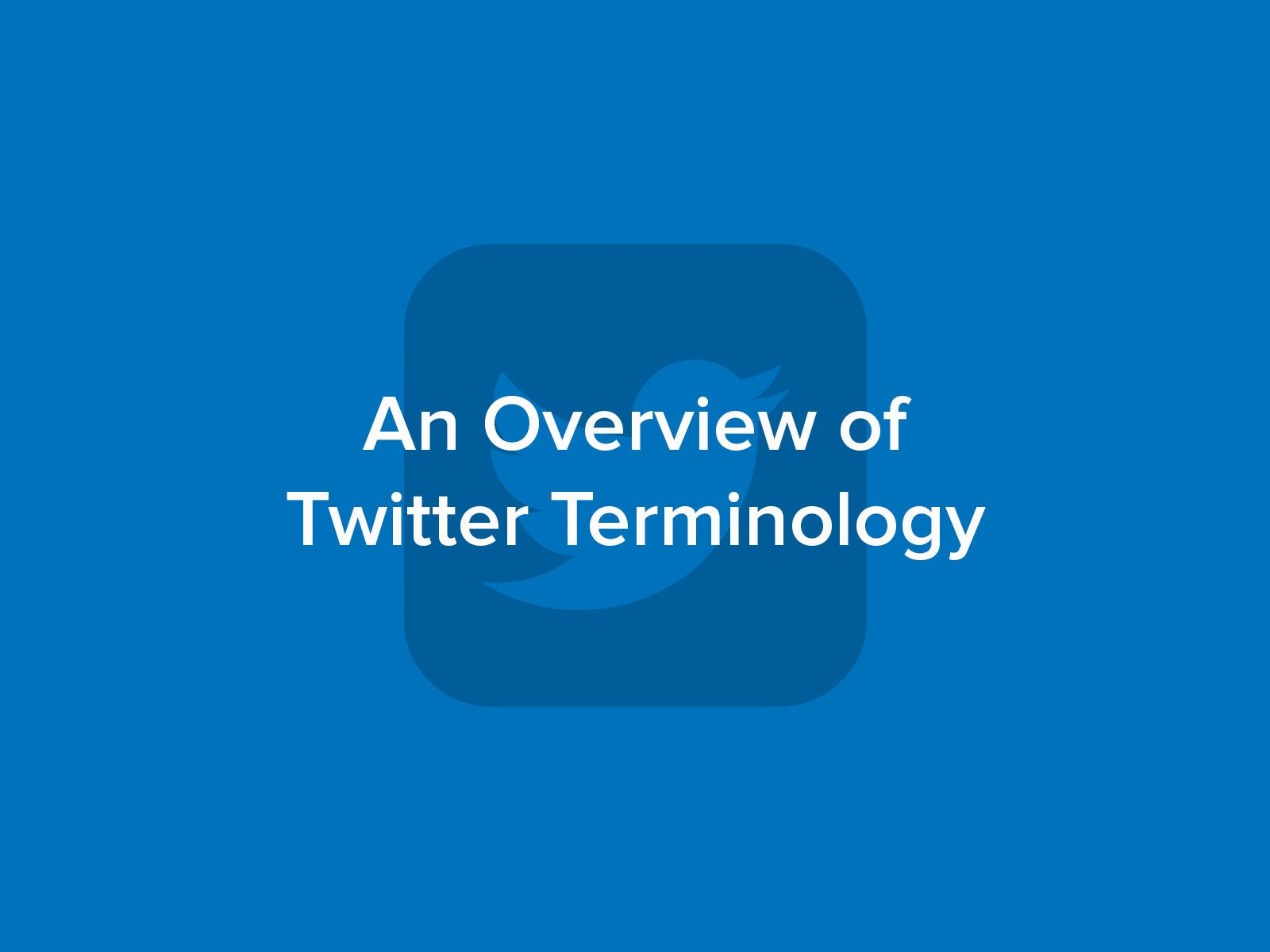 Overview of Twitter Terminology