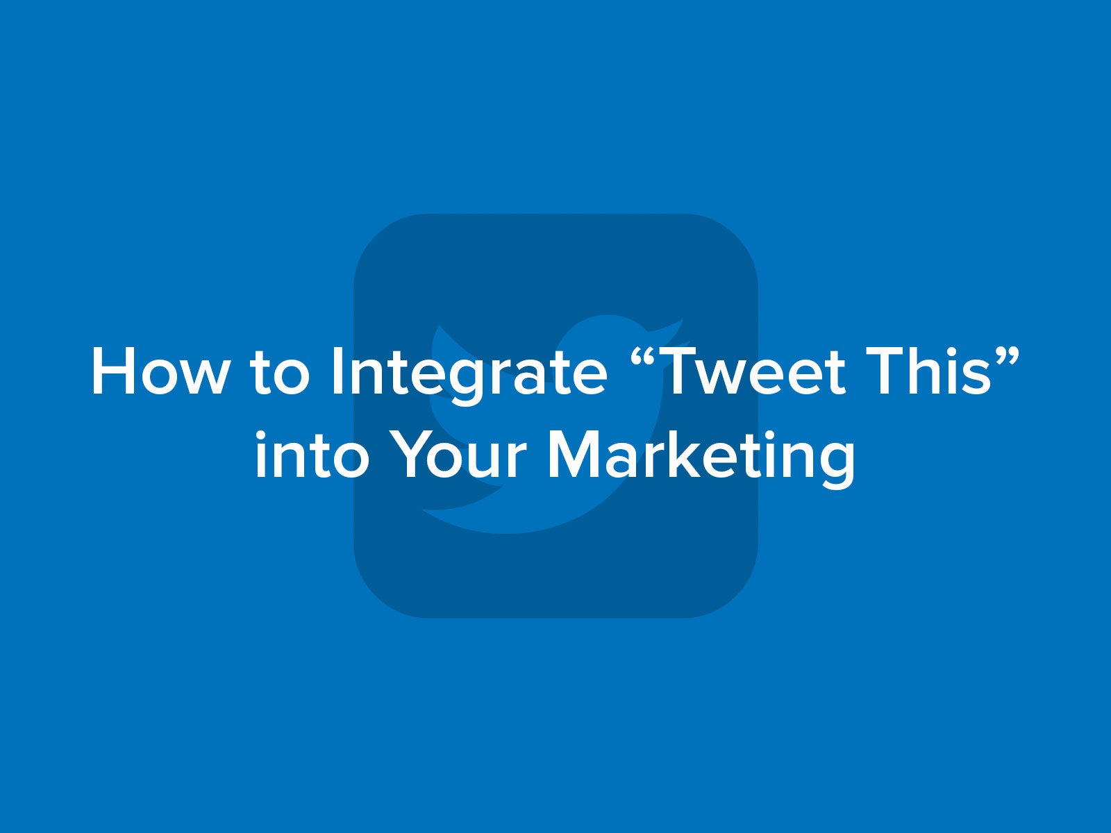 How to integrate the Tweet This feature on your website