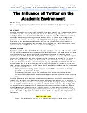 The Influcence of Twitter on Academic Environment