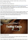 Twitter Lead Generation Cards complete guide: how to set up, measure, more 2