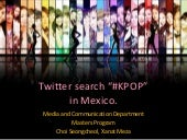 "Twitter search ""kpop"" in Mexico."