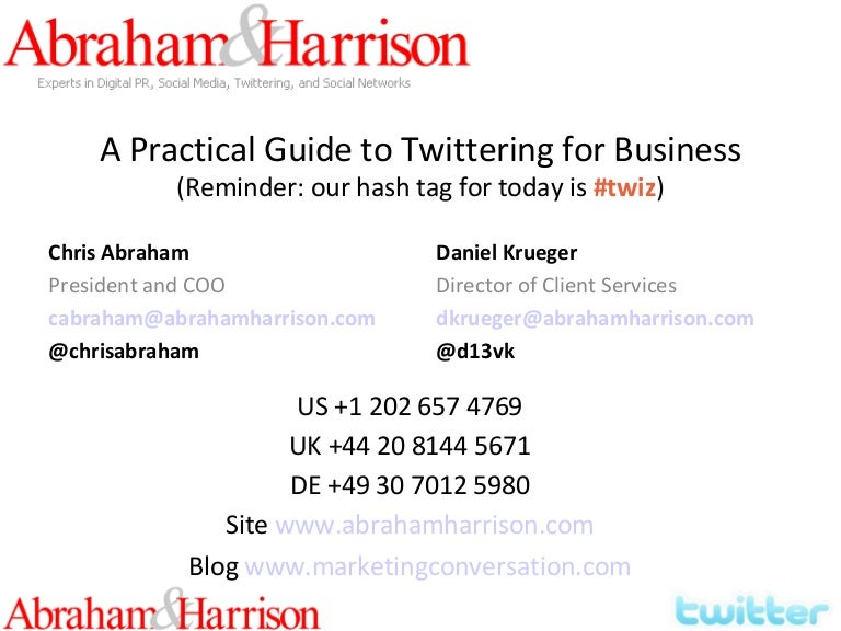 How To Use Twitter Effectively For Business And Advocacy