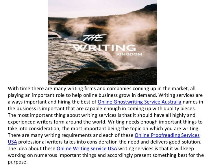 Ghostwriting Services – Ghost Writer, Inc.