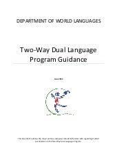 Two Way Dual Language Program Model