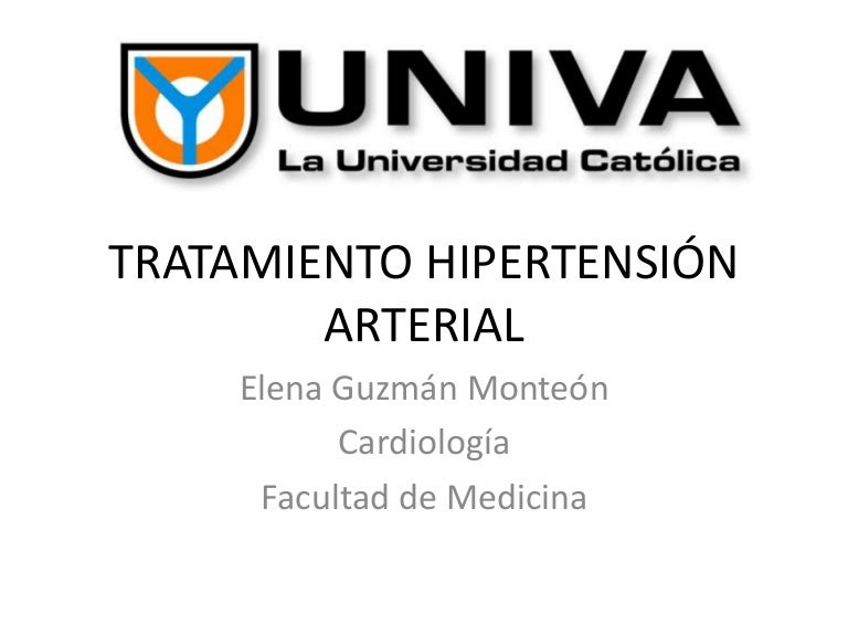 TRATAMIENTO HIPERTENSIÓN ARTERIAL