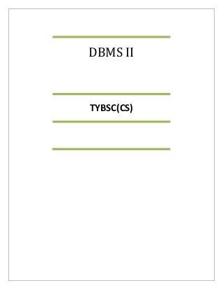 Tybsc cs dbms2 notes