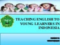 teaching English to young learners in Indonesia