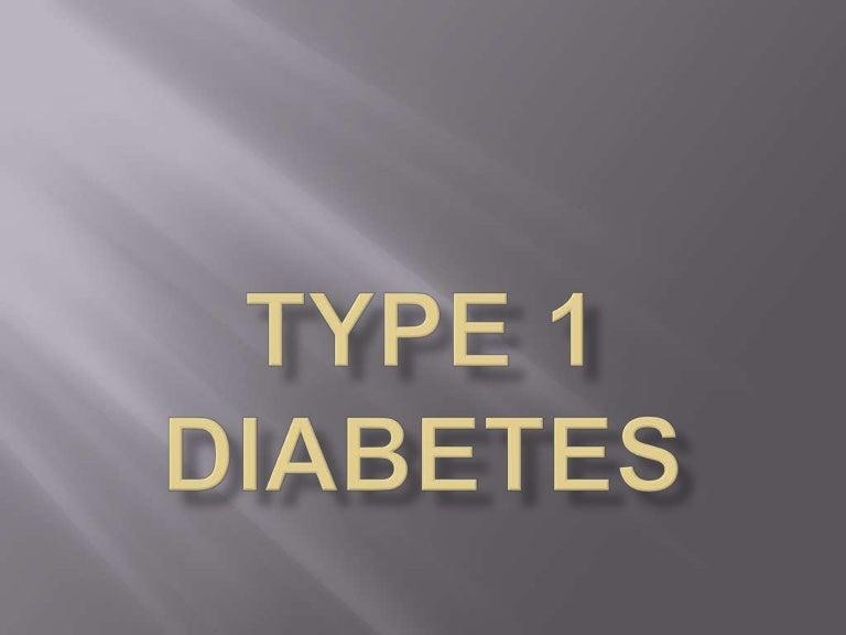 Type 1 diabetes powerpoint