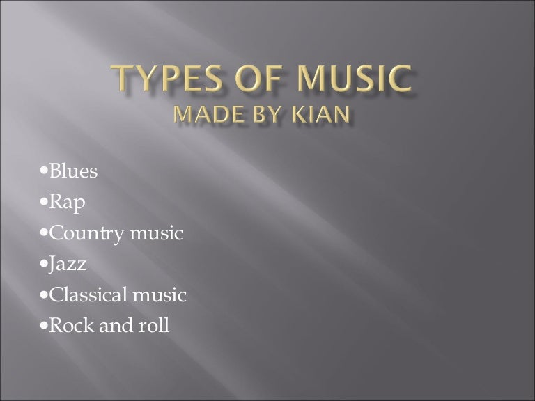 essay about different types of music Listening to music also helps people recall information certain types of music can serve as strong keys, supposedly forming a strong connection between emotions they evoke and the information, which can be recalled much easier during playing back the song which was being played during the process of learning (emed expert.