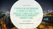 Types of Business Consultants: What they do and why you might need one
