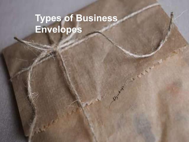 Business Envelopes Types