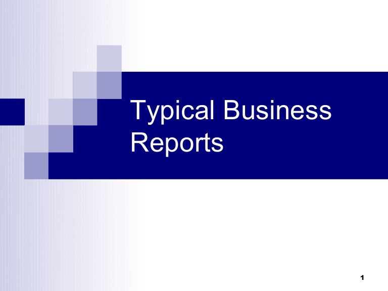 Types of business reports – Business Report Layout Example