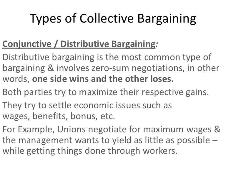 Types of collective bargaining – Sample Collective Bargaining Agreement