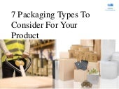 7 Packaging Types To Consider For Your Product