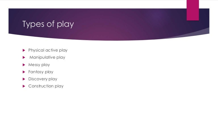 the different types of play
