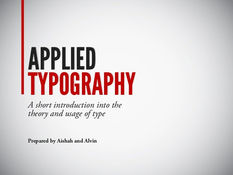 Applied Typography