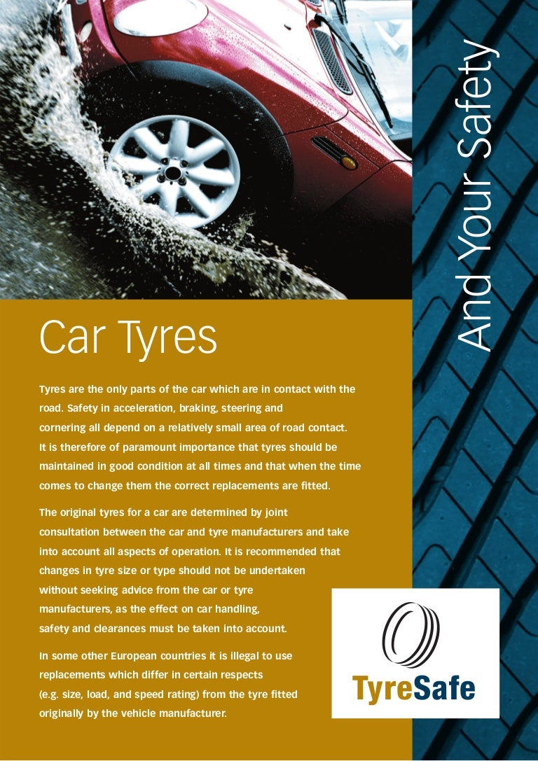 Tyre Safe Car Tyres Leaflet Hi Apr 08 Details