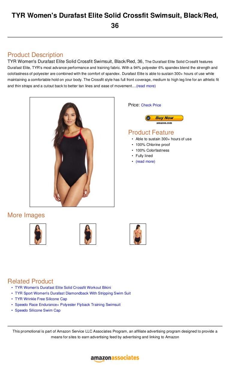 TYR Sport Womens Solid Durafast Diamondback Swim Suit