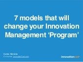7 models that will change your Innovation Management 'Program'