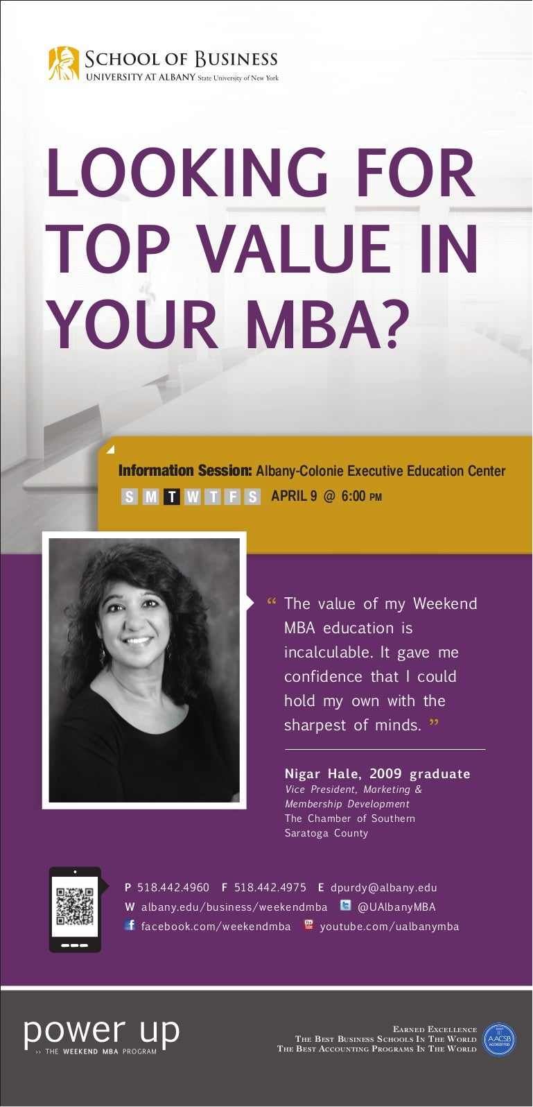 ualbany weekend mba looking for top value in your mba ad 5 11