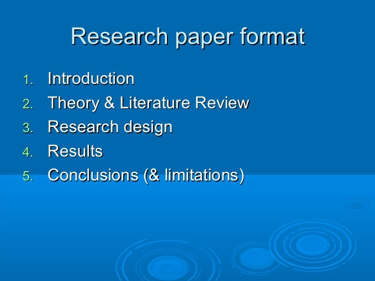 Ubc Research PaperFormat