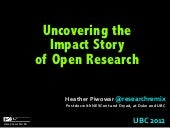 Uncovering the Impact Story of Open Research