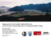 Scowlitz VMC Project Presentation at UBC Archaeology Day, March 15, 2014