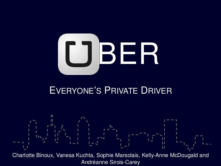 Uber PR Campaign 2014
