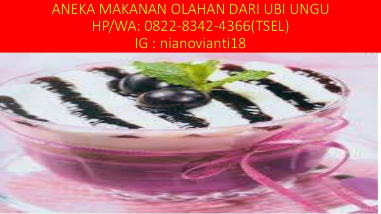 Hp Wa 0822 8342 4366 Tsel Jual Kue Mangkok Ubi Ungu