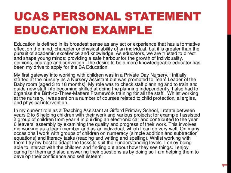 personal statement examples ucas - Ex