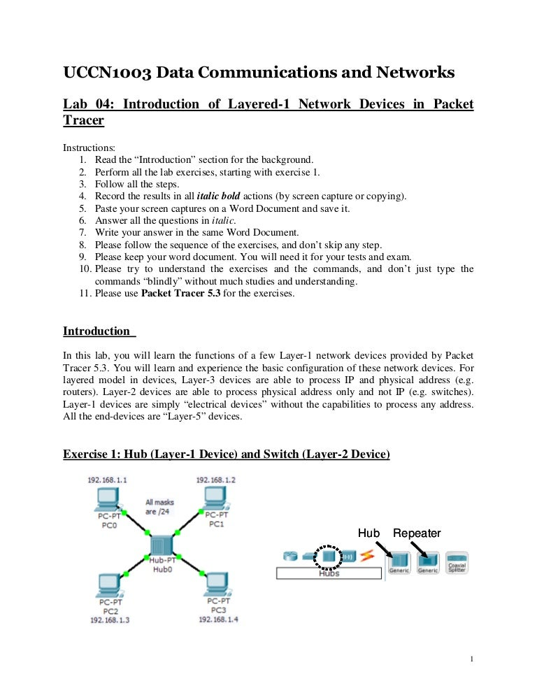 intro to networking lab 1 Page 1 of 8 lab: basic router configuration  in this lab activity, you will create a network that is similar to the one  introduction to routing and .